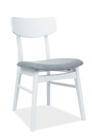 Krzesło CD-62 szara tkanina/białe drewno signal