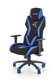 Fotel gabinetowy Stig czarny/niebieski tkanina Halmar