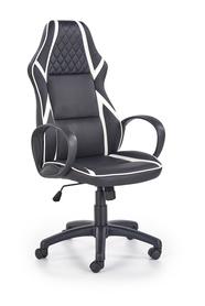 Fotel gabinetowy Dodger czarny/biały eco skóra Halmar