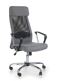 Fotel obrotowy Zoom czarny/popiel tkanina/siatka Halmar