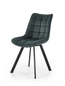 Krzesło K-332 ciemny zielony/czarny tkanina velvet/stal Halmar