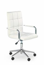 Fotel młodzieżowy Gonzo 2 biały eco skóra Halmar