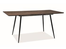 Rozkładany stół Remus II 120(160)x80 orzech/czarny okleina/metal Signal