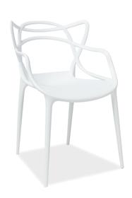 Krzesło toby biel tworzywo pp signal