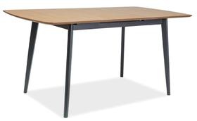Stół Vitro 120x75 dąb/grafit mdf/okleina/drewno Signal