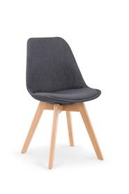 Krzesło K-303 ciemny popiel/buk tkanina/drewno Halmar