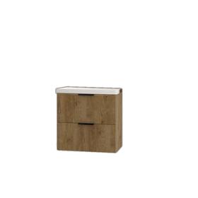 Szafka łazienkowa Lyon z umywalką 64 cm dąb lefkas