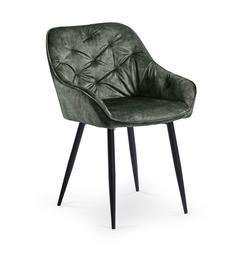 Krzesła k-418 ciemny zielony tkanina velvet/stal Halmar