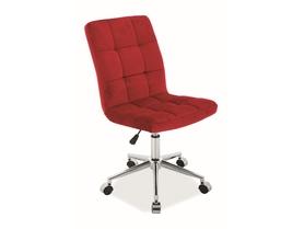 Fotel obrotowy Q-020 bordowy tkanina aksamit Signal