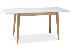 Rozkładany stół Braga II 140(190)x75 biel/buk mdf/drewno Signal