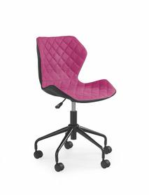 Fotel młodzieżowy Matrix czarny/róż eco skóra/tkanina Halmar