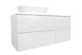 Szafka łazienkowa Nicea DUM 100 cm z umywalką biel połysk hologram