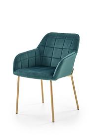 Krzesło K-306 ciemny zielony/złoty tkanina velvet/chrom Halmar
