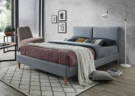 Łóżko acoma 160x200 szary/dąb tkanina signal