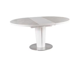 Stół Orbit Ceramic 120(160)x120 biały efekt marmuru mdf/ceramika/stal Signal