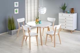 Rozkładany stółRuben 102(142)x73 biały mat/naturalny mdf/drewno Halmar