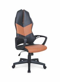 Fotel gabinetowy Cougar 3 czarny/brązowy eco skóra Halmar