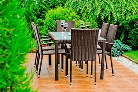 Meble ogrodowe Avvicente stół + 6 krzeseł technorattan brąz