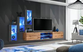 Meblościanka Switch 22 grafit - wotan mat/połysk + LED