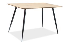 Stół Remus 120x80 dąb/czarny mdf/metal Signal