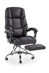 Fotel gabinetowy Alvin czarny ekoskóra Halmar