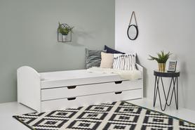Laguna łóżko białe halmar