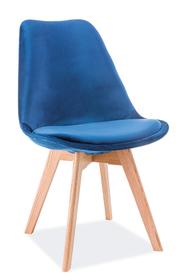 Krzesło Dior granat velvet/drewno dąb signal