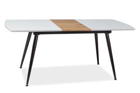 Rozkładany stół Davos 140(180)x80 biel/dąb/czerń mdf/płyta laminowana/metal Signal