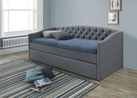 Łóżko alessia 90x200 szary/dąb tkanina signal