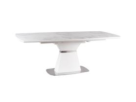 Rozkładany stół Saturn II Ceramic 160(210)x90 efekt marmuru mdf/ceramika/stal Signal