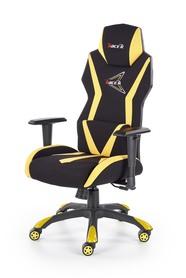 Fotel gabinetowy Stig czarny/żółty tkanina Halmar
