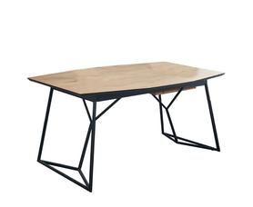 Rozkładany stół Colombo 160(210)x100 dąb złoty/czerń mdf/stal Halmar