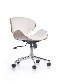Fotel gabinetowy Alto biały/jasny dąb ekoskóra/sklejka Halmar