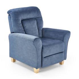 Fotel rozkładany Bard ciemno niebieska tkanina halmar