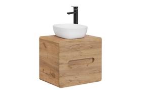 Szafka łazienkowa z umywalką nastawną 60 cm Aruba 828 dąb craft złoty