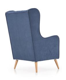 Fotel wypoczynkowy chester granat lira-1210 tkanina/drewno halmar