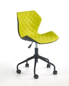Fotel młodzieżowy Matrix czarny/zielony eco skóra/tkanina Halmar