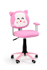 Fotel młodzieżowy Kitty róż eco skóra Halmar