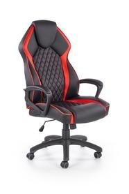 Fotel gabinetowy Vector czarny/czerwony eco skóra Halmar