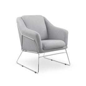 Fotel/krzesło soft popiel tkanina/stal halmar