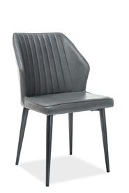 Krzesło apollo szary/czerń eco skóra/metal signal
