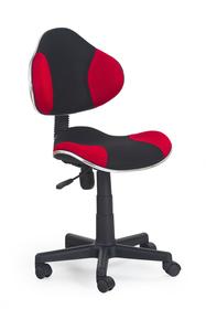 Fotel młodzieżowy Flash czarny/czerwony tkanina membranowa Halmar