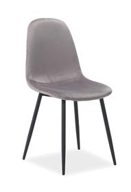 Krzesło Fox szary velvet/czarny metal signal