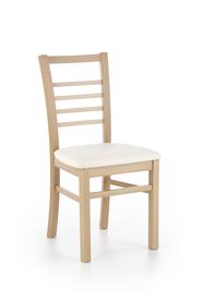 Krzesło Adrian dąb miodowy/madryt 121 drewno/eco skóra Halmar