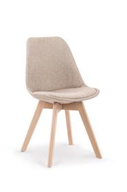 Krzesło K-303 beż/buk tkanina/drewno Halmar
