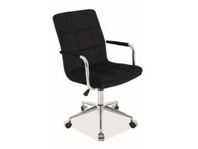 Fotel obrotowy Q-022 czarny tkanina velvet Signal