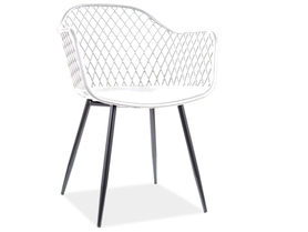 Krzesło Corral B białe tworzywo polipropylen/czarny metal signal