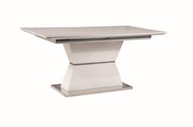 Rozkładany stół Muskat 160(220)x90 biały/szary mdf/metal Signal