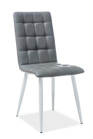 Krzesło otto szary/biel eco skóra/metal signal