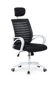 Fotel obrotowy Socket biały/czarny tkanina membranowa/siatka Halmar